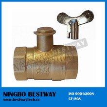 Water Meter Tank Brass Lockable Ball Valve (BW-L27)