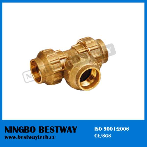 Brass Equal Tee Compression Fitting Fast Supplier (BW-308)
