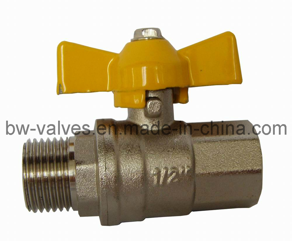 Brass Gas Ball Valve with Butterfly Handle (BW-B137 FxM)