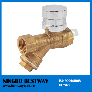 Brass Magnetic Lockable Ball Valve with Strainer