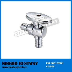 Brass Oval Knurled Handle Pex Angle Stop Valve (BW-A54)
