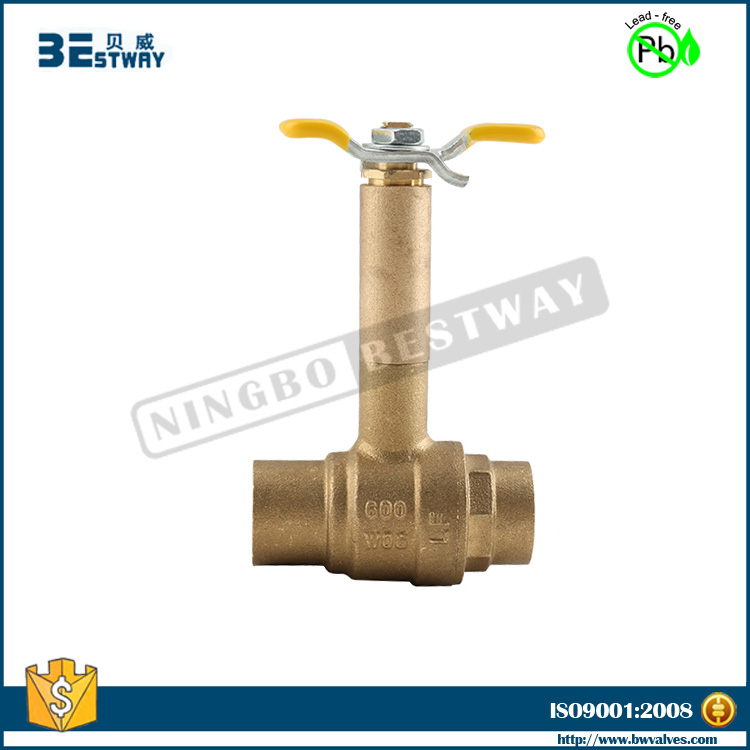 BWVA 2 hours replied customized lead free ball valve water (BW-LFB18)