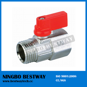 "1/4"" to 1/2"" Mini Brass Ball Valve (BW-B105)"