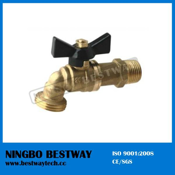 Brass Male Hose Bibb with Aluminum Butterfly Handle (BW-Z42)