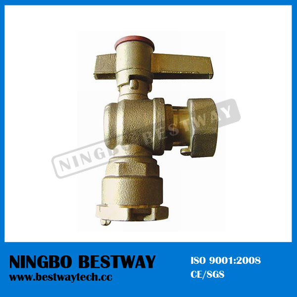 Brass Angle Type Lockable Ball Valve (BW-L02)