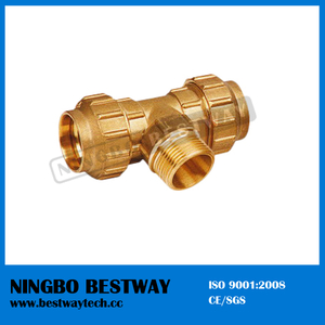 Male Compression Fitting Tee (BW-309)
